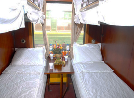 Green Express Train Cabin
