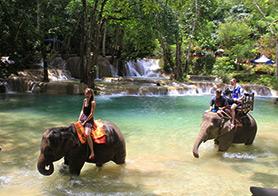 Khuangsi Waterfall in Laos