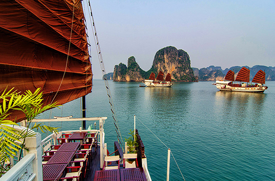 Halong on cruises